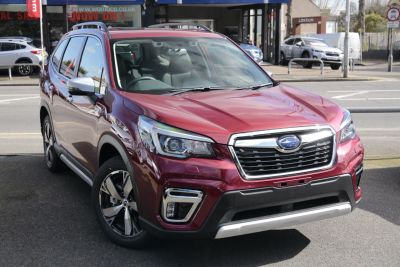 Subaru Forester 2.0i e-Boxer XE Premium 5dr Lineartronic Estate Petrol / Electric Hybrid Red at Woodford Motor Co Ltd Woodford Green