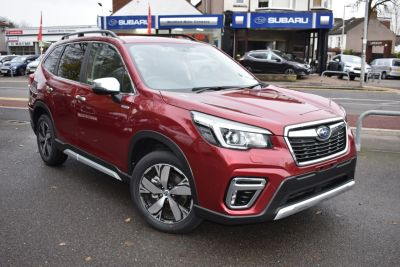 Subaru Forester 2.0i e-Boxer XE Premium 5dr Lineartronic SUV Petrol / Electric Hybrid Red at Woodford Motor Co Ltd Woodford Green