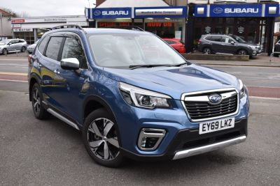 Subaru Forester 2.0i e-Boxer XE Premium 5dr Lineartronic Estate Petrol / Electric Hybrid Blue at Woodford Motor Co Ltd Woodford Green