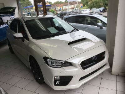 Subaru WRX STi 2.5 WRX STi Type UK 4dr Saloon Petrol White at Woodford Motor Co Ltd Woodford Green