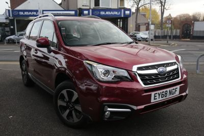 Subaru Forester 2.0 XE Premium Lineartronic 5dr Estate Petrol Red at Woodford Motor Co Ltd Woodford Green