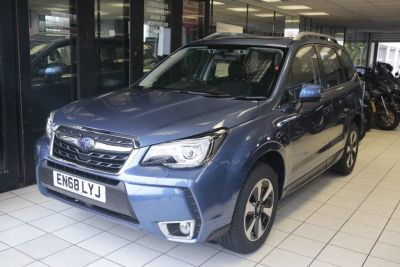 Subaru Forester 2.0 XE Premium Lineartronic 5dr Estate Petrol Quartz Blue at Woodford Motor Co Ltd Woodford Green