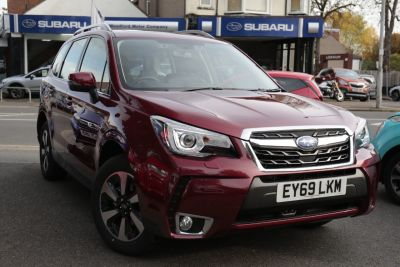 Subaru Forester 2.0 XE Lineartronic 5dr Estate Petrol Red at Woodford Motor Co Ltd Woodford Green